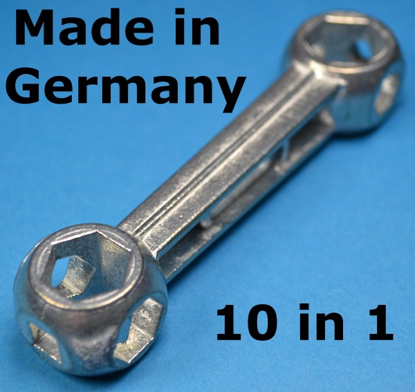 10 Loch Schlüssel Fahrrad Knochen Werkzeug Schraubenschlüssel 7-15 mm Sechskant