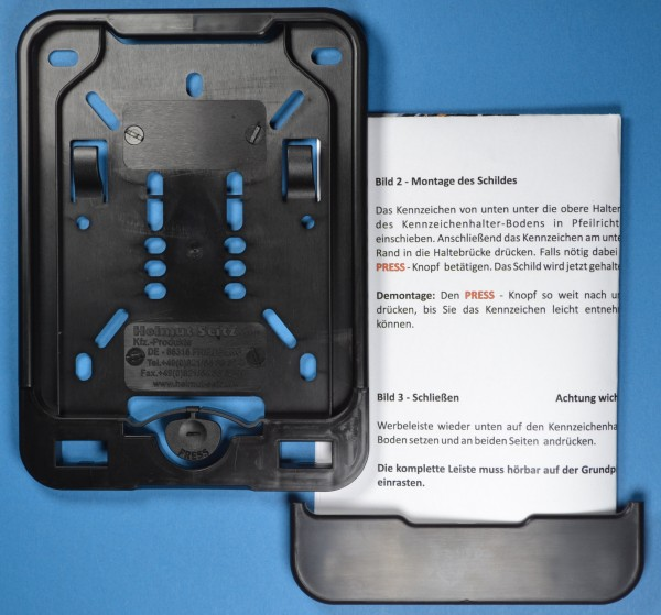 Wechsel-Kennzeichenhalter Halter Nummernschild Mofa Moped Wechselrahmen