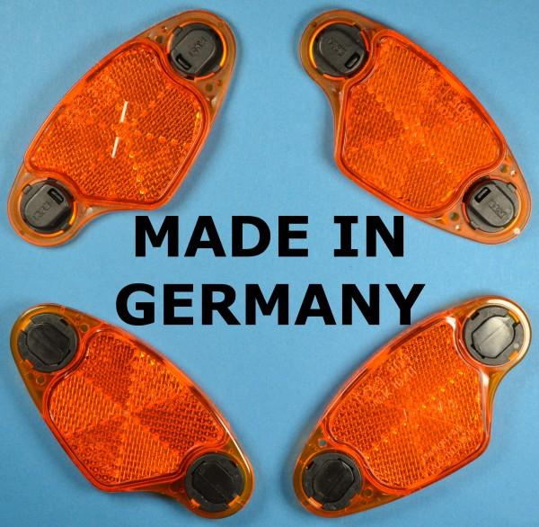 4 Stück Speichenstrahler BUSCH MÜLLER bumm Fahrrad Speichenreflektoren 309