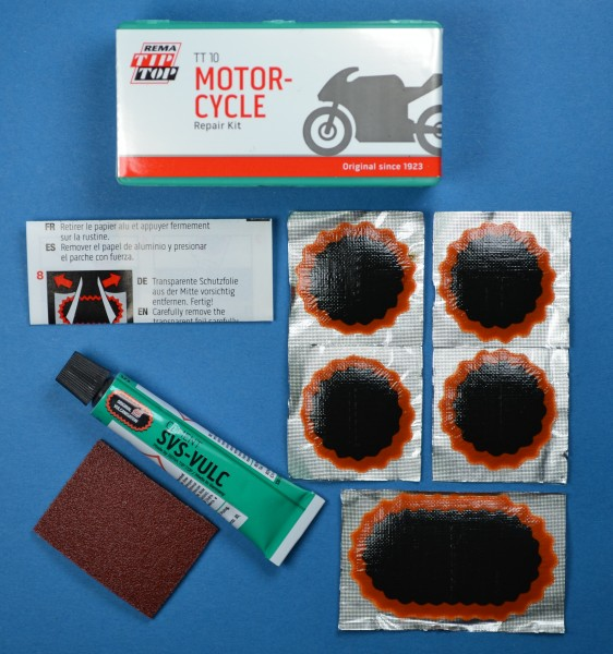 TIP TOP TT 10 Flickzeug Set Mofa, Moped, Schlauch Reparatur, Flicken, Pannenhilfe