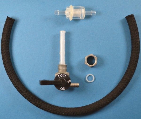 OMG Benzinhahn, Karcoma Benzinfilter, Benzinschlauch Hercules Prima 2,3,4,5, M12x1