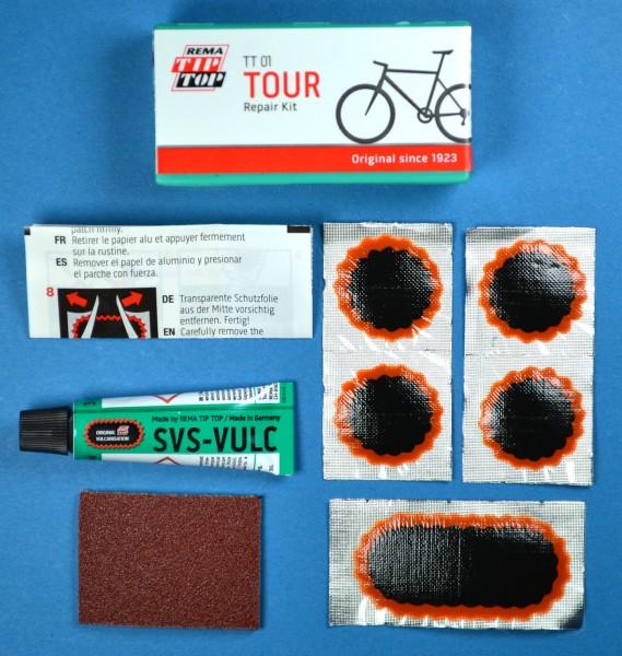 TIP TOP TT 01 Tour Flickzeug Set Fahrrad Schlauch Reparatur, Flicken, Pannenhilfe